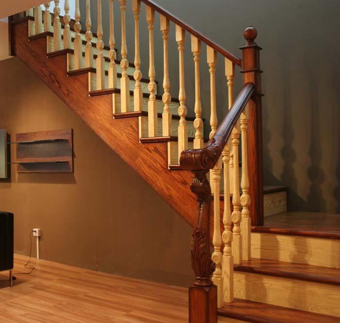 高贵实木直梯 - 实木楼梯